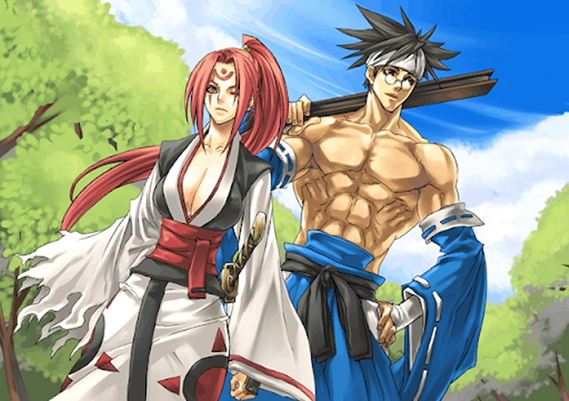 Baiken and Anji Mito from Guilty Gear