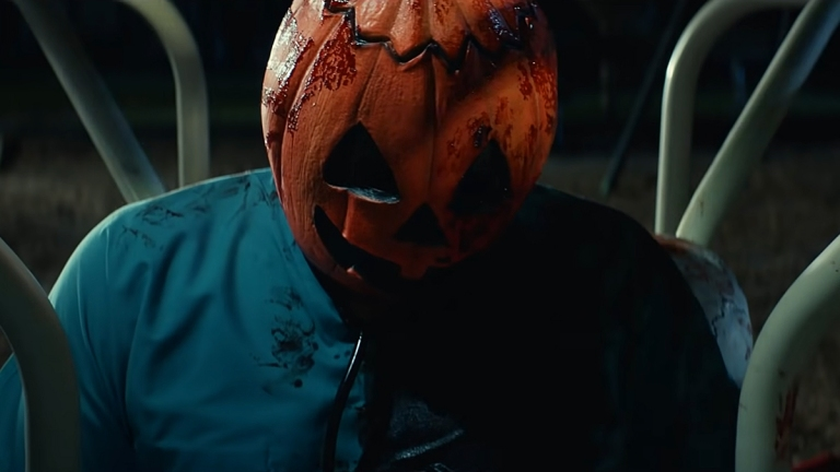 Jack-O'-Lantern mask in Halloween Kills.