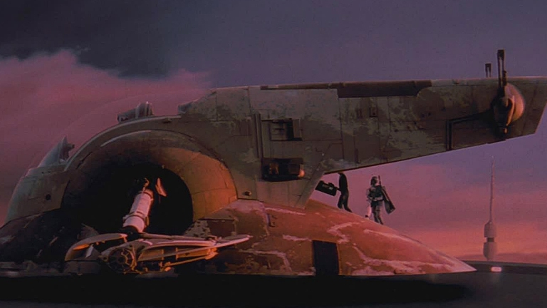 Boba Fett and the Slave I in The Empire Strikes Back.