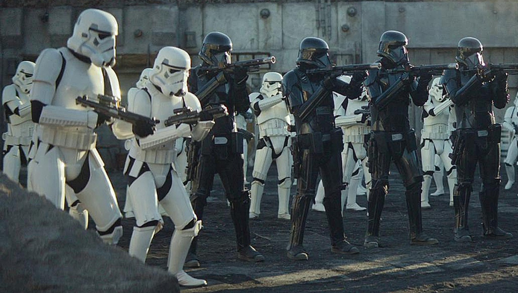 Stormtroopers and Deathtroopers on The Mandalorian.