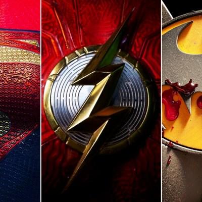 The Flash Movie Logo, Supergirl DCEU Logo, Batman Costume Logo