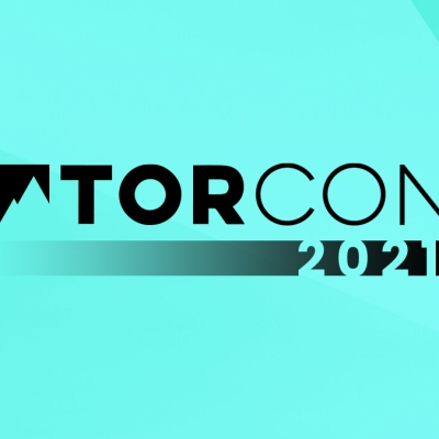 TorCon 2021 logo against a teal background