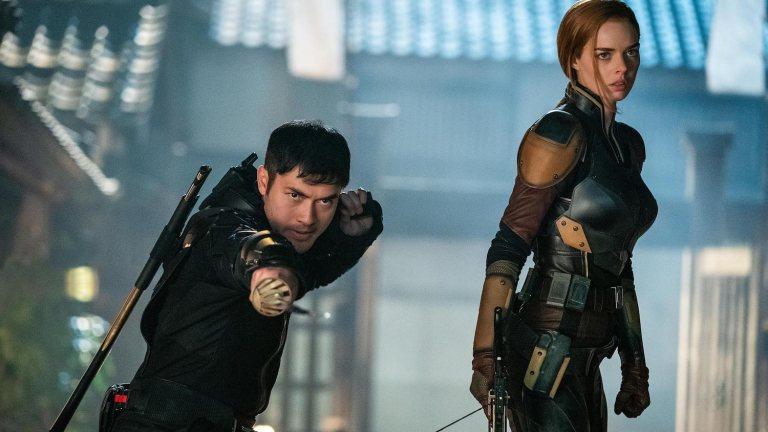 Henry Golding and Samara Weaving in Snake Eyes GI Joe Review
