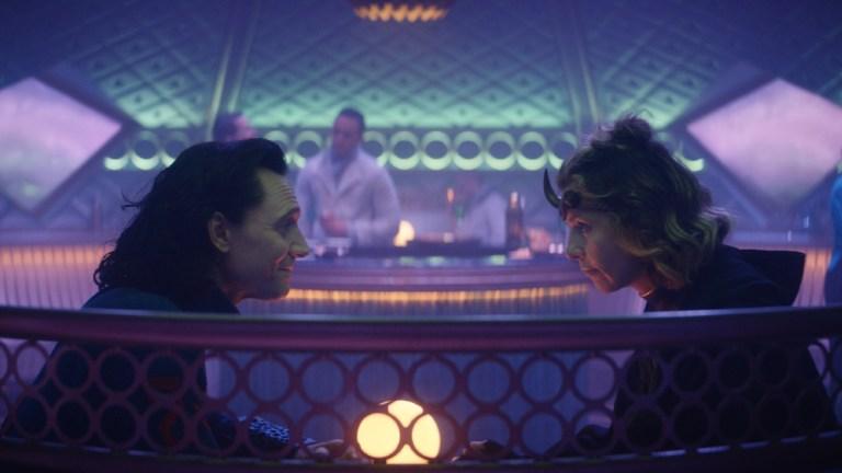 Loki (Tom Hiddleston) and Sylvie (Sophia Di Martino