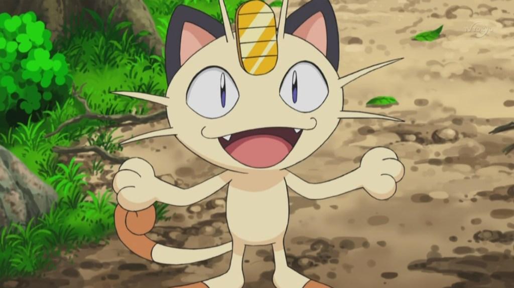 Team Rocket's Meowth Pokemon anime