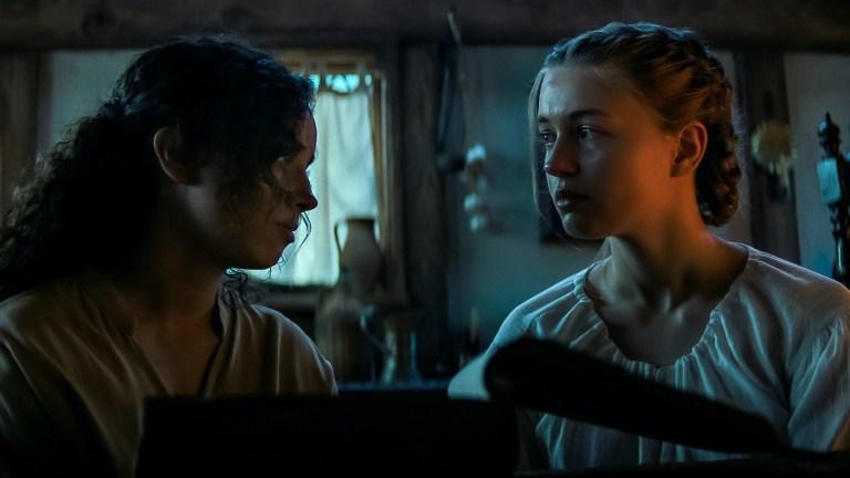 Sarah Fier and Hannah Miller in Fear Street Part Three 1666