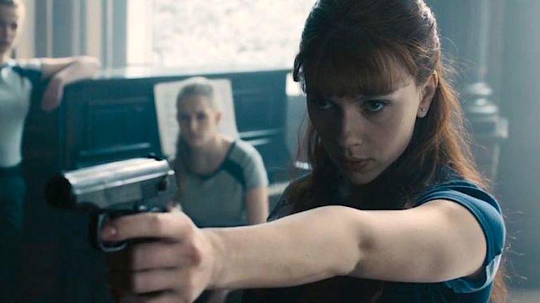 Scarlett Johansson as Black Widow in Red Room