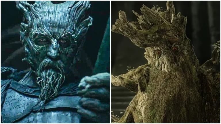 The Green Knight and Treebeard from Lord of the Rings