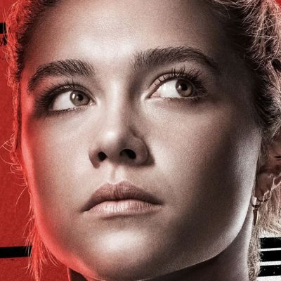 A close-up of Florence Pugh's face as Yelena in Black Widow