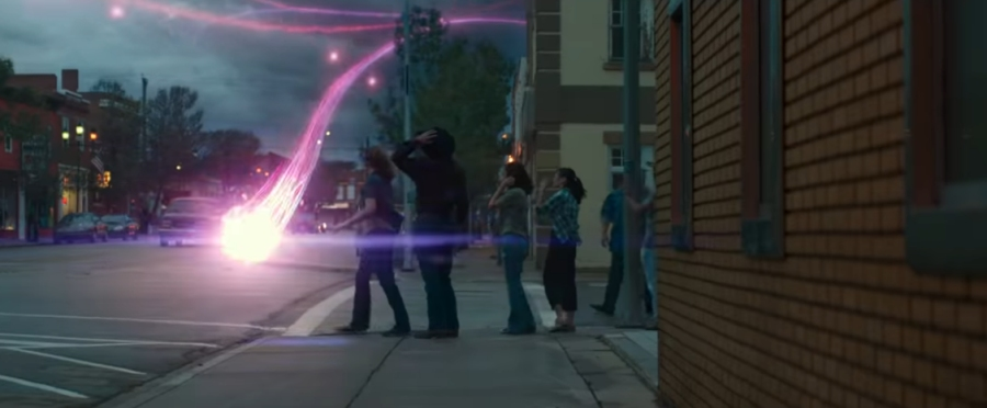 Purple ghost lasers in Ghostbusters: Afterlife