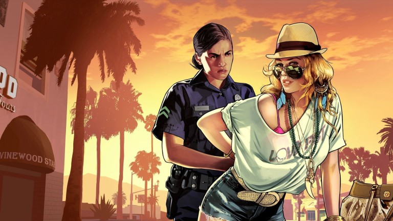 GTA 5 Blonde Character Arrested