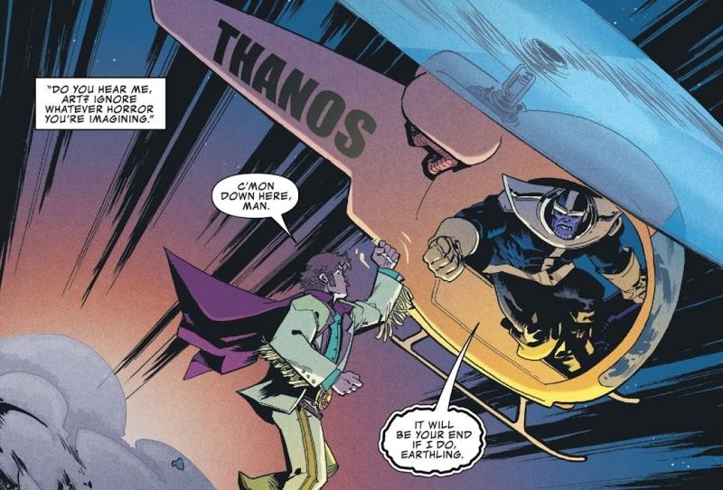 Arthur Douglas contre Thanos