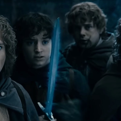 Hobbits in The Lord of the Rings: The Fellowship of the Ring.