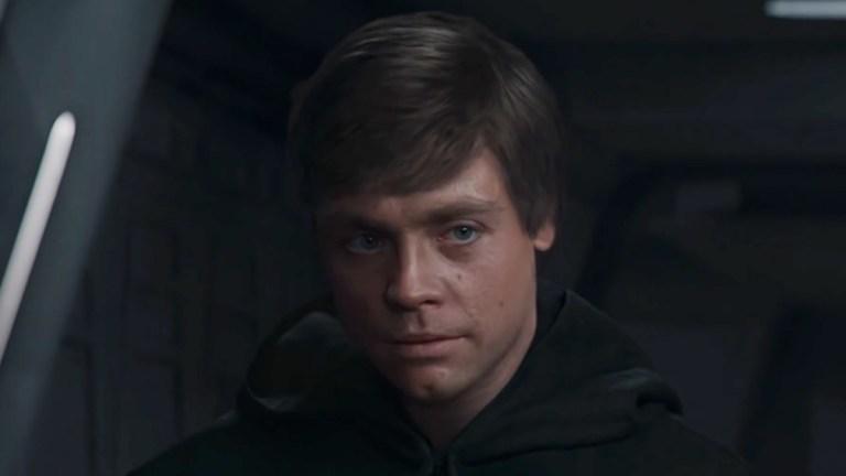 Luke Skywalker in Shamook's deepfake of The Mandalorian Season 2 finale.