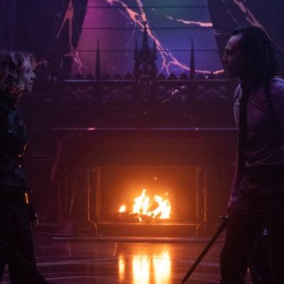 Sylvie (Sophia Di Martino) and Loki (TomHiddleston) in Marvel's Loki episode 6