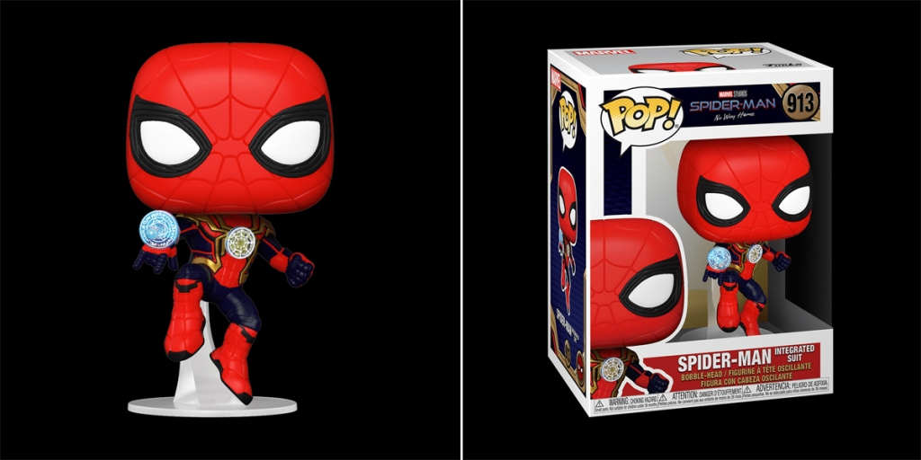 Funko Pop! Traje de Spider-Man integrado.