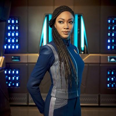 Sonequa Martin-Green as Captain Michael Burnham in Star Trek: Discovery
