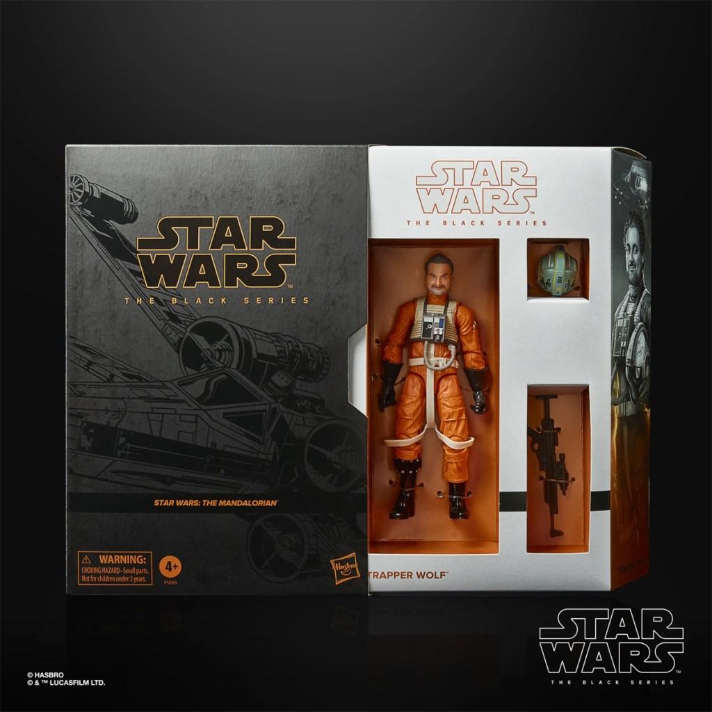Embalaje de la figura de Star Wars: The Black Series Trapper Wolf (Dave Filoni).