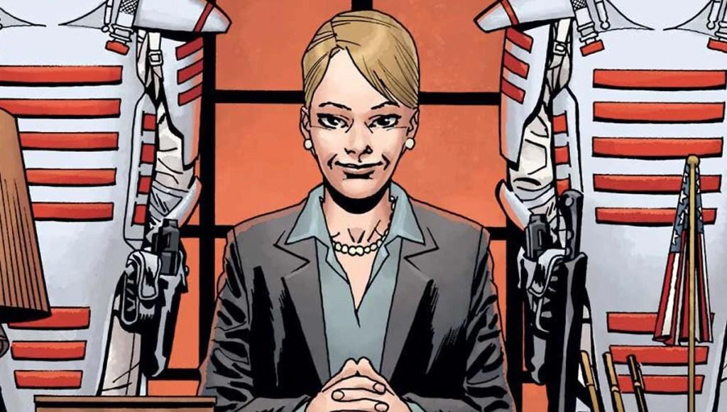 Pamela Milton on The Walking Dead #176 cover.