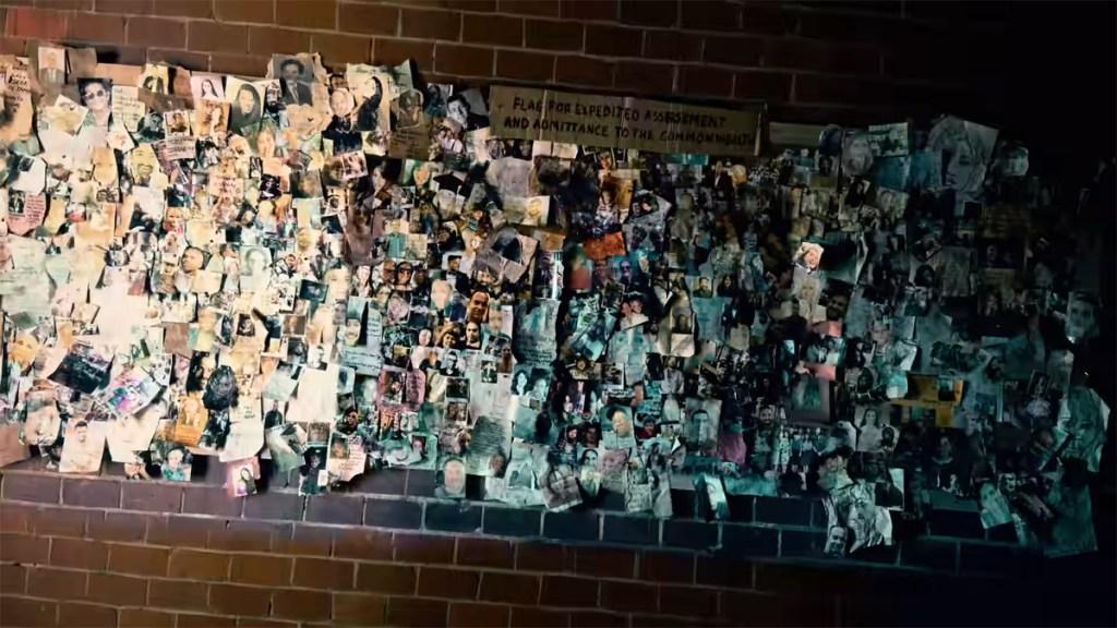 Muro de los perdidos de The Walking Dead Temporada 11.