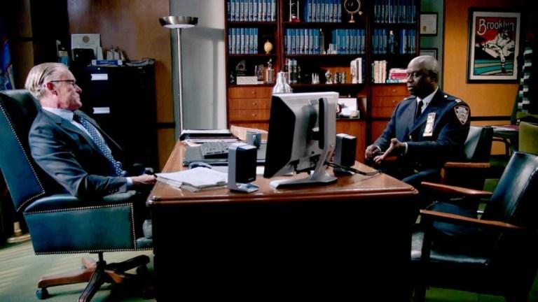 John C. McGinley and Andre Braugher in Brooklyn Nine-Nine Season 8 Episode 3