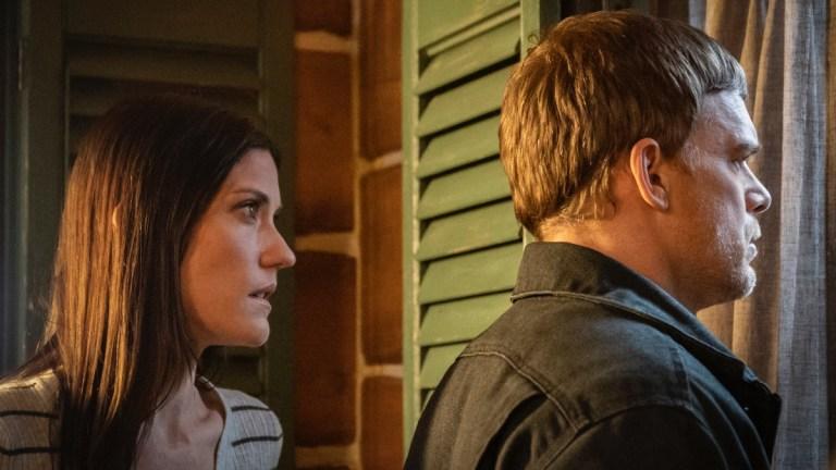Deb (Jennifer Carpenter) and Dexter (Michael C. Hall) in Dexter: New Blood