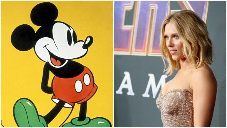 Mickey Mouse of Disney versus Scarlett Johansson