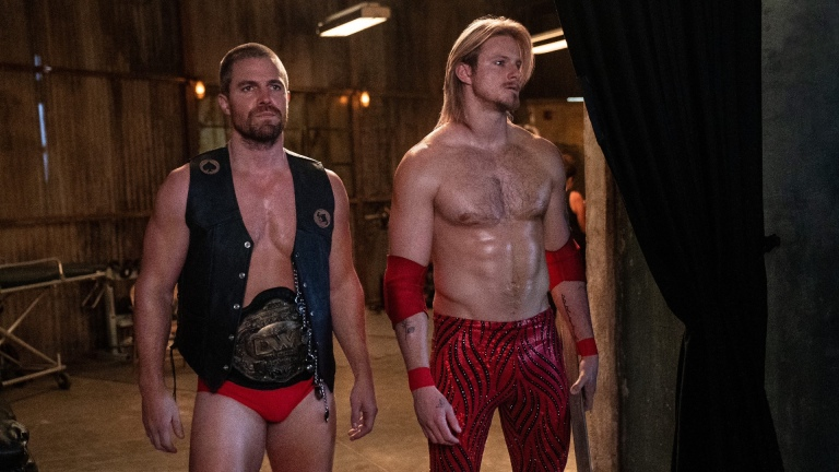 Stephen Amell and Alexander Ludwig in Heels