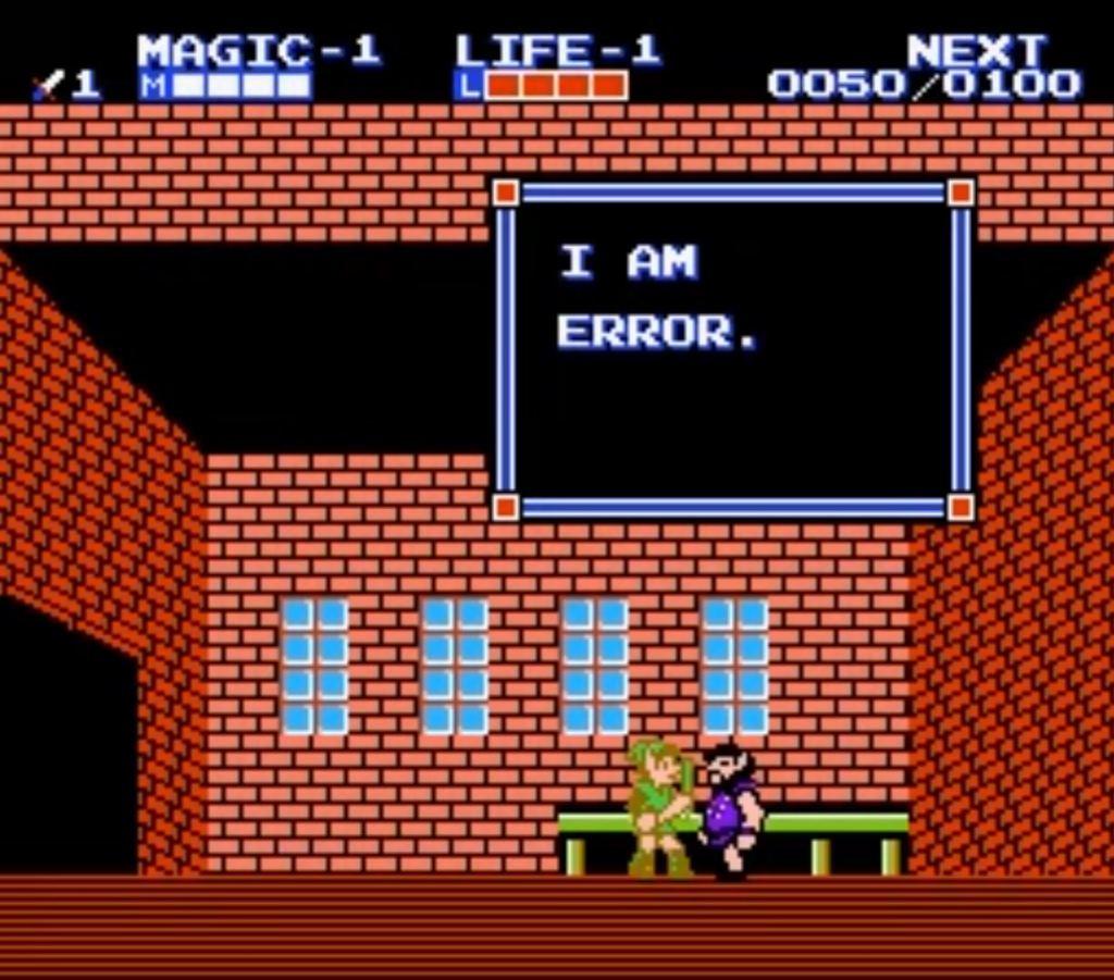 Error - Zelda II: The Adventures of Link