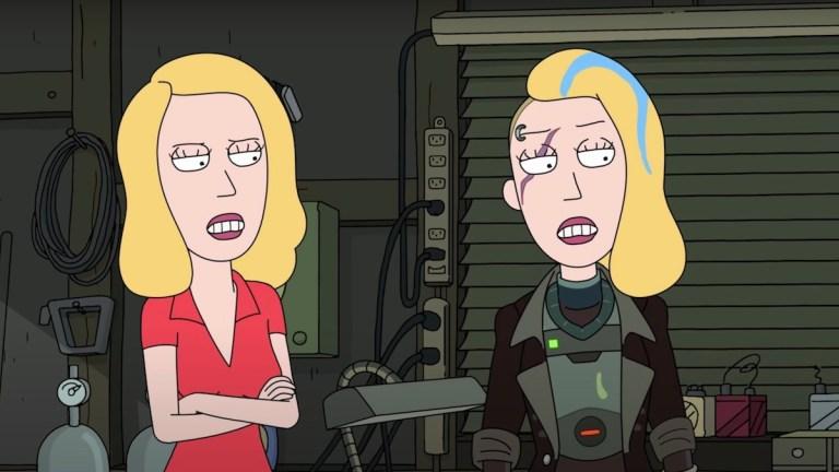 Beth (Sarah Chalke) on Rick and Morty