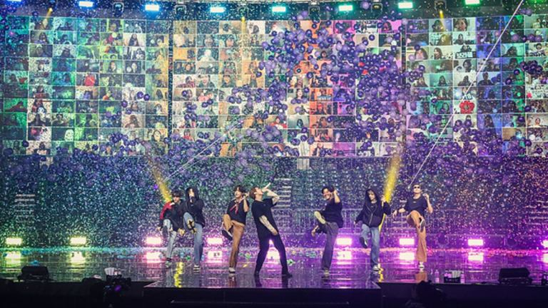BTS on stage