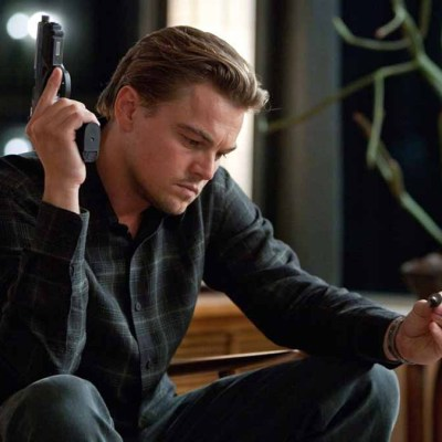 Leonardo DiCaprio as Cobb in Inception