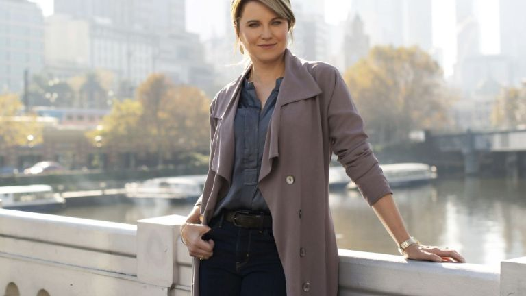 Lucy Lawless in Acorn TV's My Life is Murder