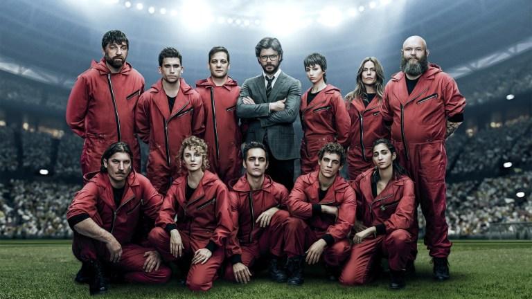 The cast of Money Heist Season 4 on Netflix