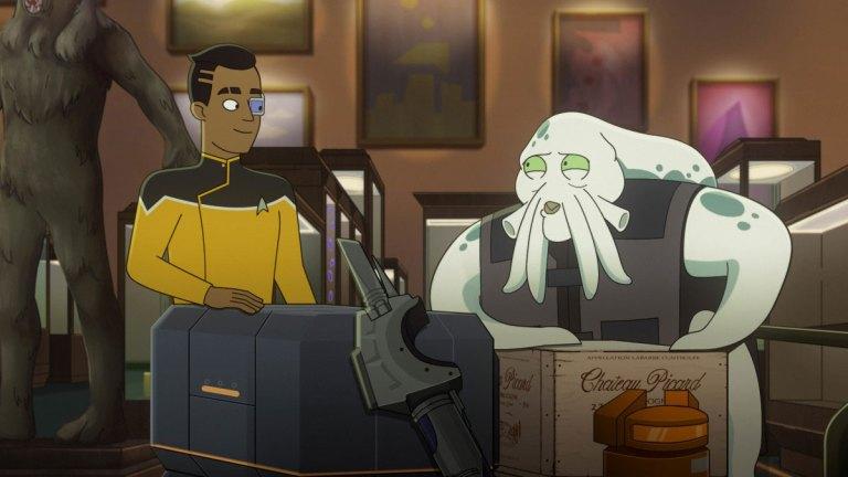 Eugene Cordero as Ensign Rutherford and Siggi in Star Trek: Lower Decks