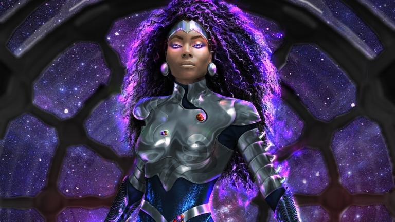 Damaris Lewis as Blackfire on Titans Season 3