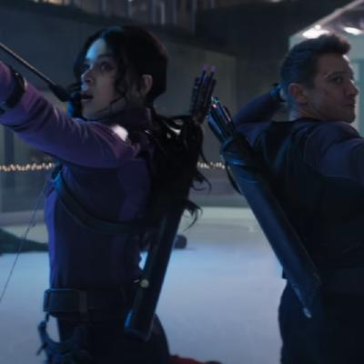 Jeremy Renner and Hailee Steinfeld in Marvel's Hawkeye