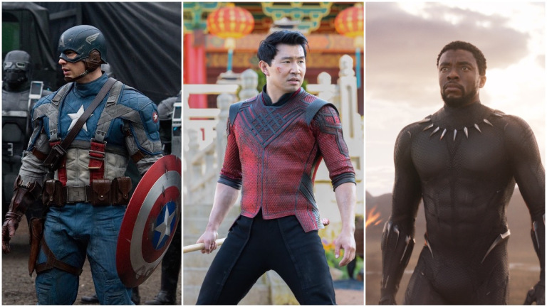 Captain America, Shang-Chi, and Black Panther