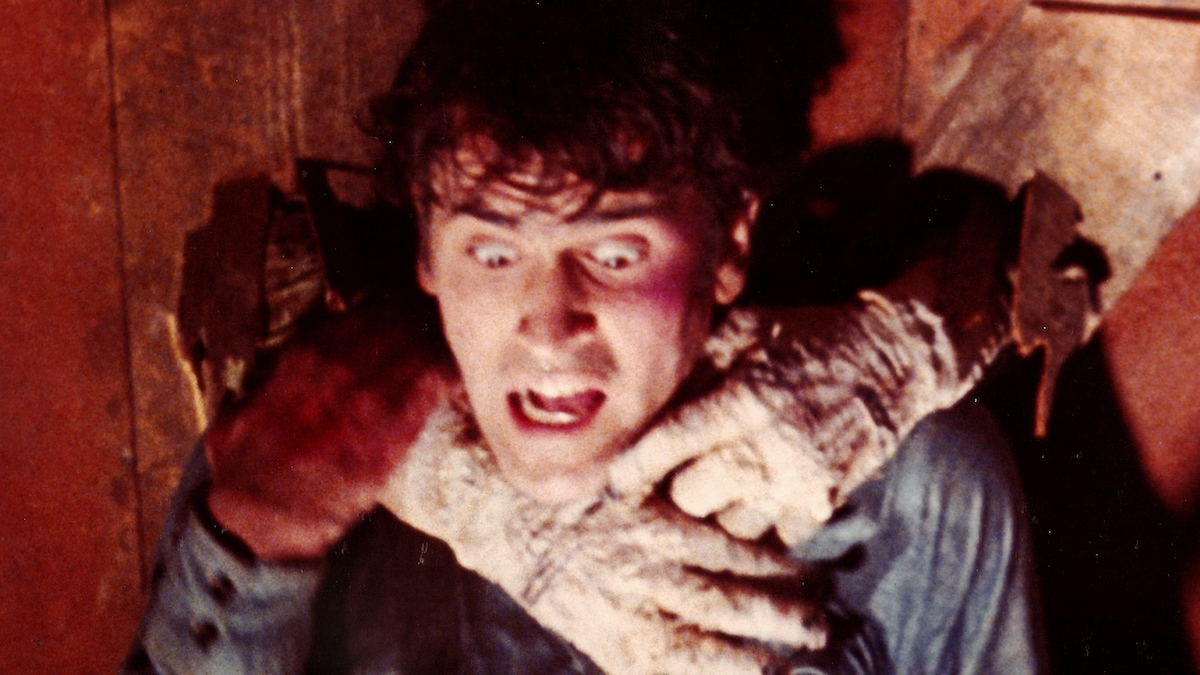 Bruce Campbell in the Evil Dead 1981