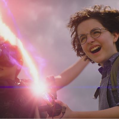 Firing away in Ghostbusters: Afterlife