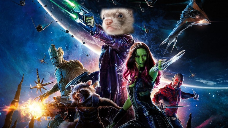 Guardians of the Galaxy poster starring...a ferret