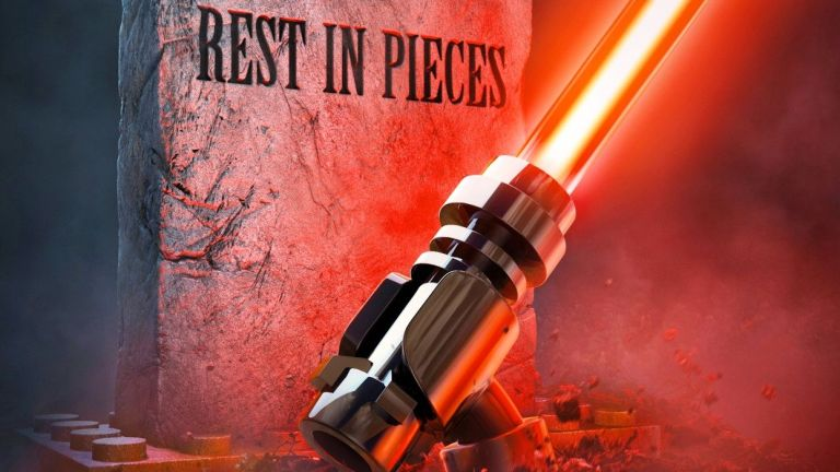 LEGO Star Wars Lightsaber Coming Out of the Grave