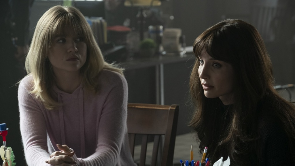 Maddie Hasson and Annabelle Wallis in Malignant