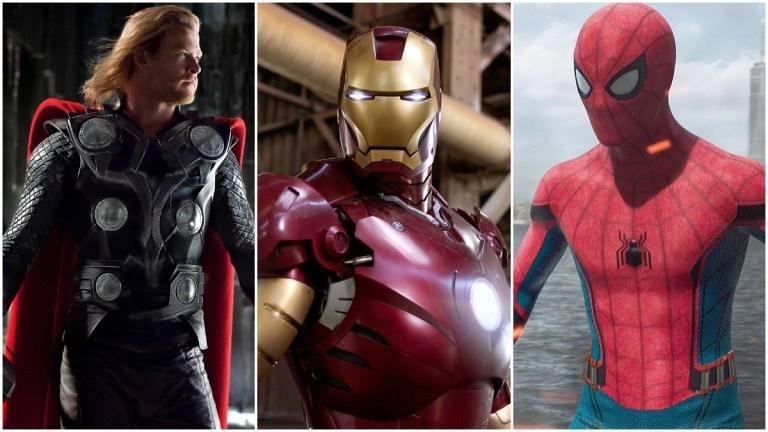 Thor, Iron Man, and Spider-Man