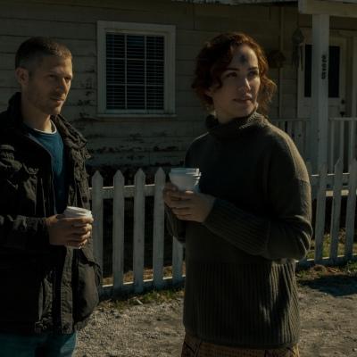 Riley Flynn (Zach Gilford) and Erin Greene (Kate Siegel) in Midnight Mass