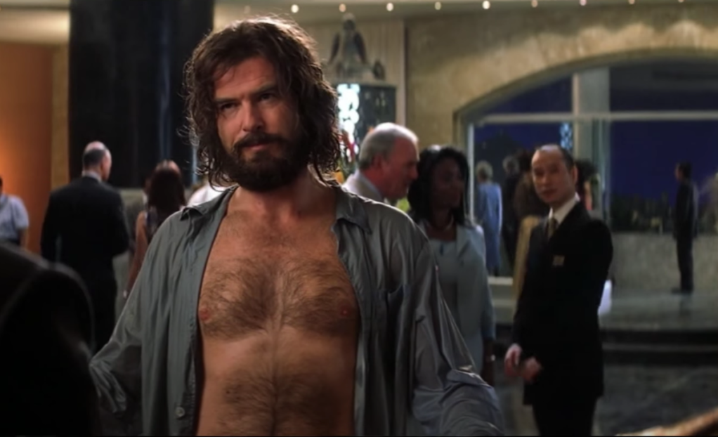 Pierce Brosnan with beard in Die Another Day