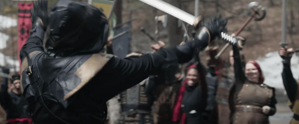 Ronin at the Renaissance Fair in Marvel's Hawkeye trailer