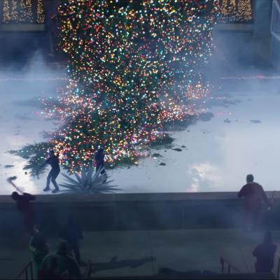 Hawkeye Trailer Rockefeller Center Fight