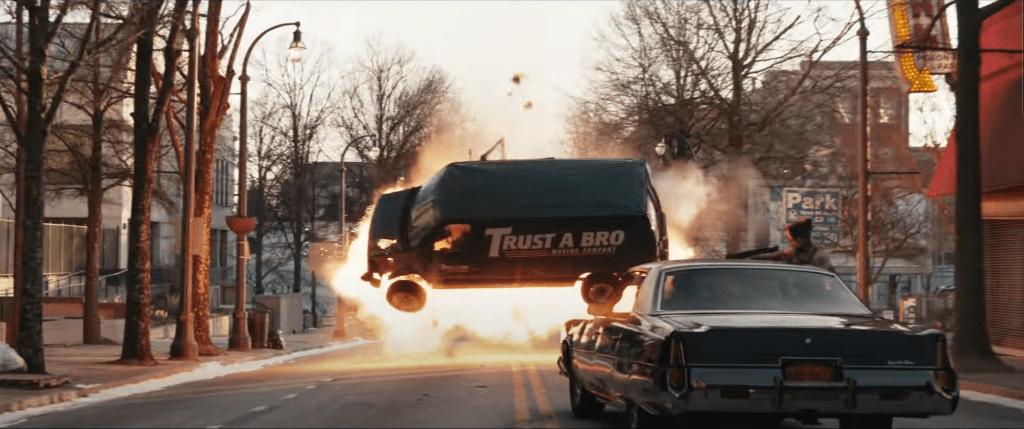 Hawkeye Trailer Van Explosion