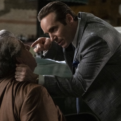 """(L-r) JOEY COCO DIAZ as Buddha and ALESSANDRO NIVOLA as Dickie Moltisanti in New Line Cinema and Home Box Office's mob drama """"THE MANY SAINTS OF NEWARK,"""" a Warner Bros. Pictures release."""